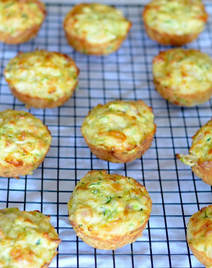 Bacon Cheese and Zucchini Muffins