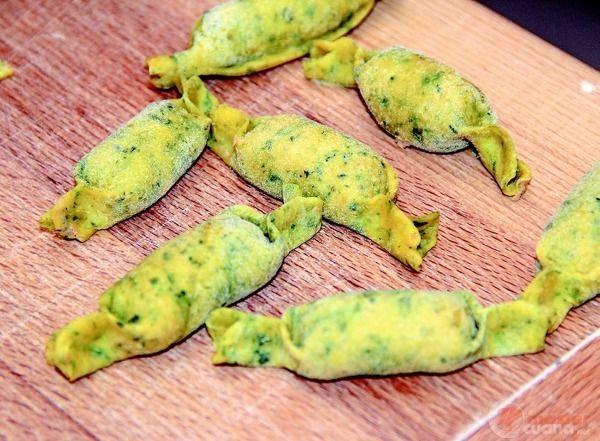 Caramelle verdi ripiene