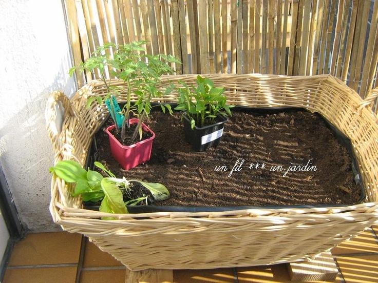 17 best jardin au balcon images on pinterest balconies - Mini jardin balcon ...