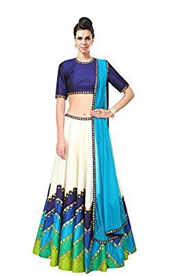 Z Fashion Digital Printed Banglori Silk Lehenga Choli (Blue)