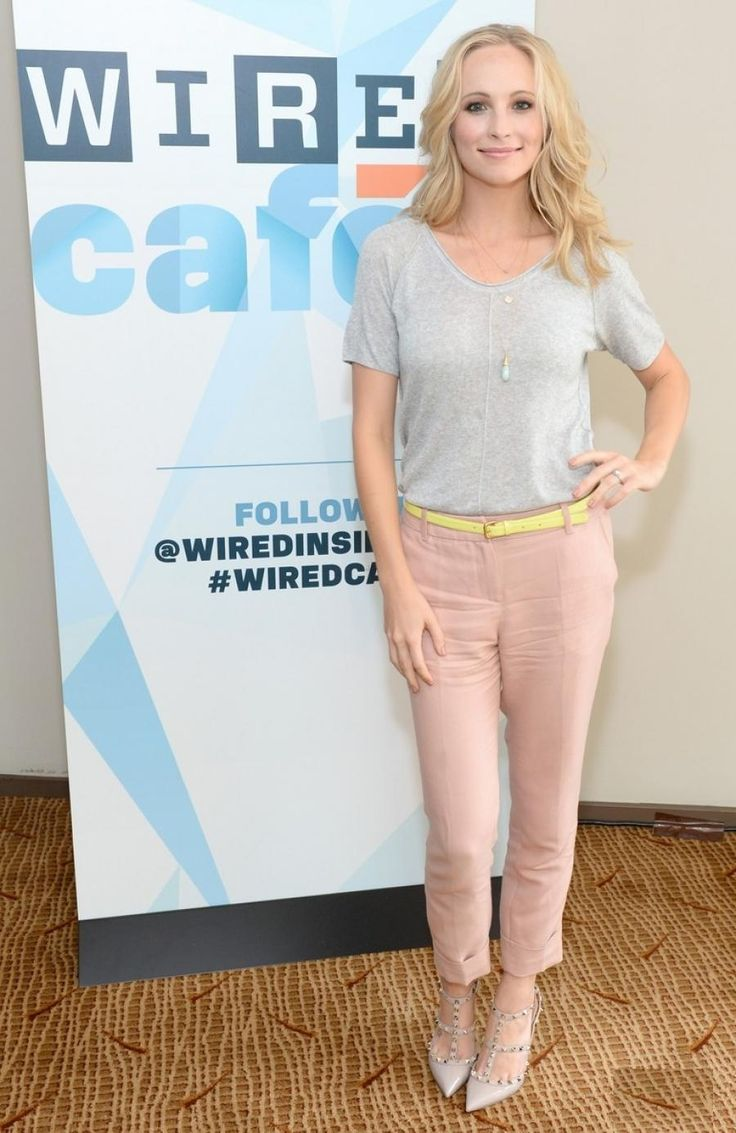Candice Accola in pink and grey @ 2013 San Diego Comic Con