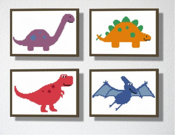 Counted Cross stitch Pattern PDF. Stegosaurus Dinosaur. Includes easy beginners instructions.. $4.00, via Etsy.