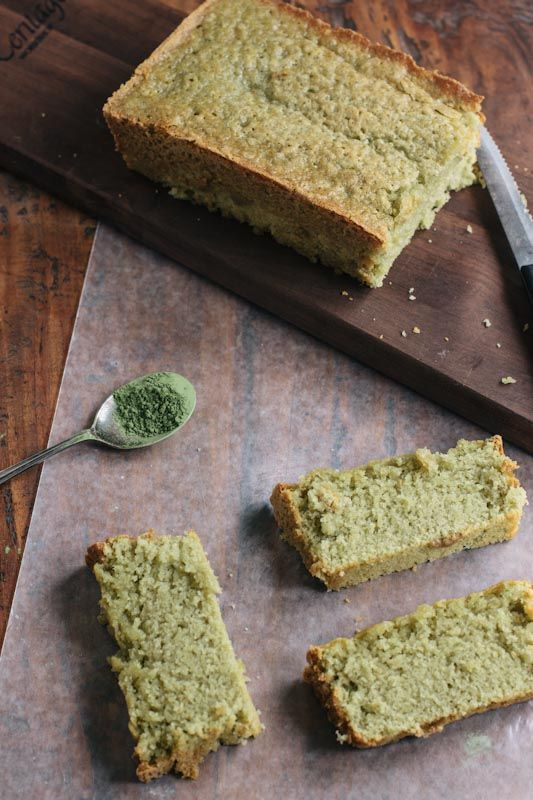 Matcha Green Tea Pound Cake Recipe. Success! Used 1/2 cup sugar, milk with vanilla essence and baked for 45min in round cake tin.