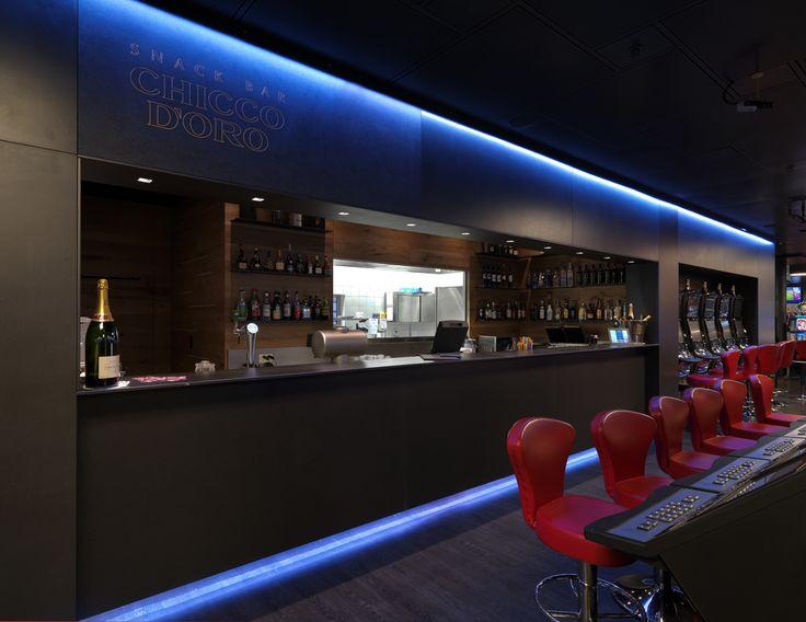 Interior Design per questo casinò di Lugano. Arredamento di lusso.