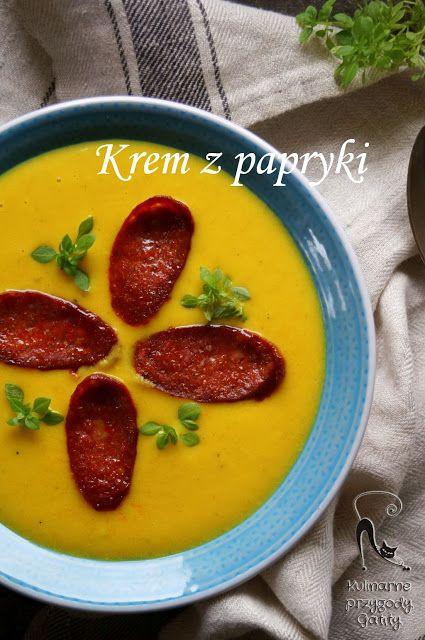Kulinarne przygody Gatity: Krem z papryki z chorizo
