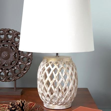 Lattice Resin Table Lamp #Dunelm #Lighting #Decor #PinItToWinIt #Comp