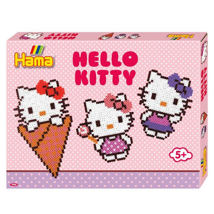 Hama perlepladesæt, Midi, Hello Kitty - 4000 perler   LirumLarumLeg