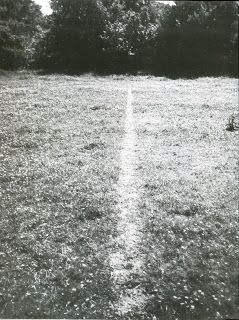 A line made by walking (1967) by Richard Long