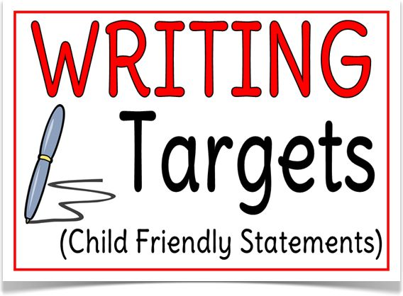 Writing Targets Guidleines - Treetop Displays -Writing targets assessment guidelines in child friendly language. These free documents support both teacher and child when assessing children's progress and serves as a tick box format that helps find a level according to age related key stages. Designed by teachers for Early Years (EYFS), Key Stage 1 (KS1) and Key Stage 2 (KS2).
