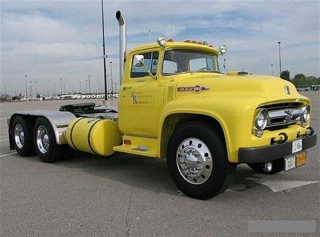 1956 Ford F 750 Big Job Google Search Truck Flatbeds Ford