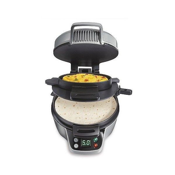 Hamilton Beach Breakfast Burrito Maker, Matte Silver ($45) ❤ liked on Polyvore featuring home, kitchen & dining, small appliances, matte silver, hamilton beach, hamilton beach griddle, hamilton beach waffle maker, hamilton beach waffle iron and hamilton beach waffle baker