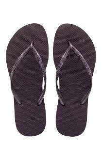 Havaianas SLIM Solid AUBERGINE Brazilian Flip Flop Sandal Womens