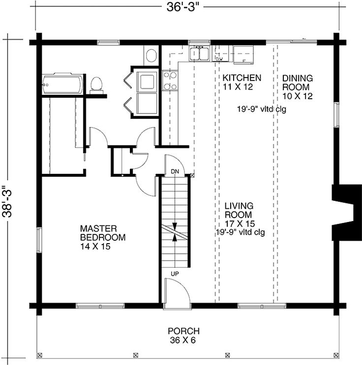 One Bedroom Cottage Floor Plans | One Bedroom Cabin () | Cabin House Plan Part 85