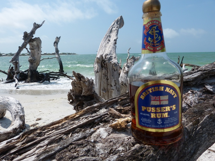 Little Pusser's Rum on the beach. Can you say Painkiller!