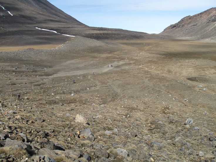Another view of walkers crossing South Crater - enlarge this to see them!
