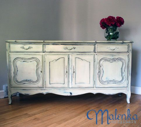French provincial style buffet in annie sloan chalk paint for French provincial paint colors