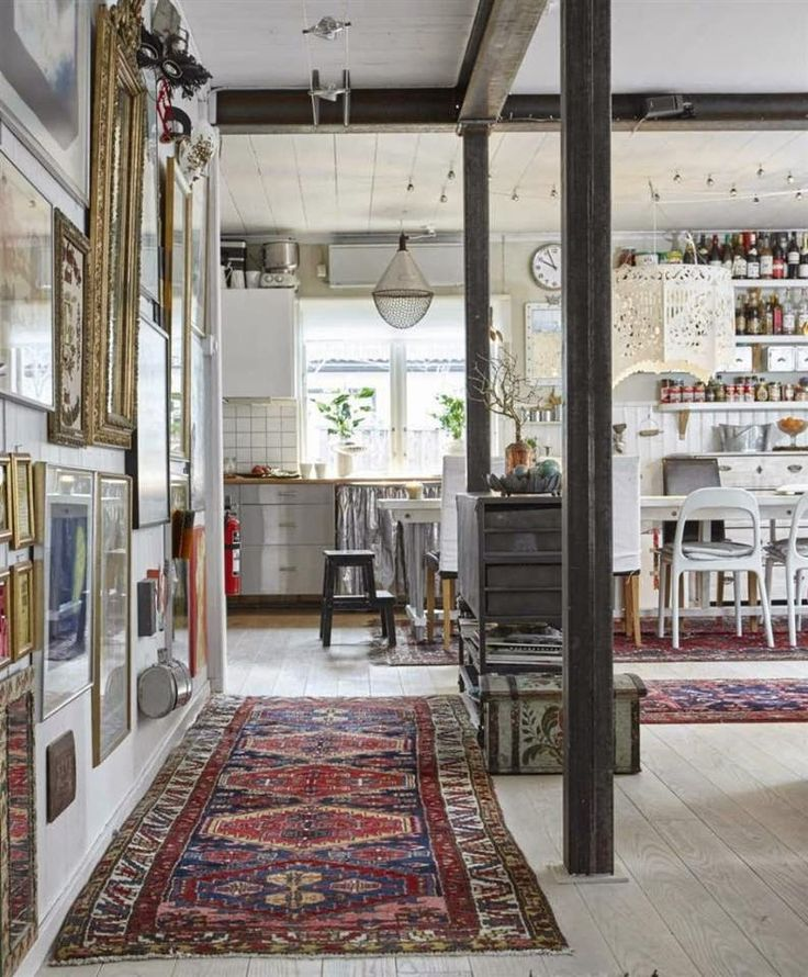decordemon: Bohemian style country house in Sweden
