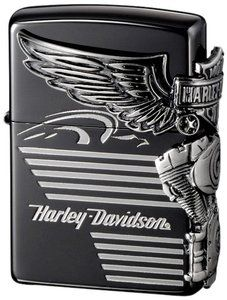 New Japan Limited Zippo HDP 25 Black Harley Davidson ion Silver Platin | eBay
