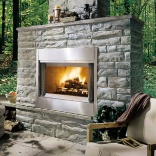 Check Out The Monessen Odsr36a 40 W Outdoor Wood Burning Fireplace In Stainless Steel