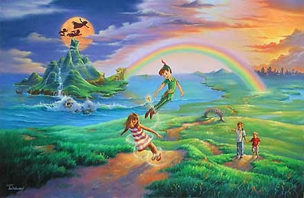 Peter Pan - If Only You Believe - Jim Warren - World-Wide-Art.com - $650.00