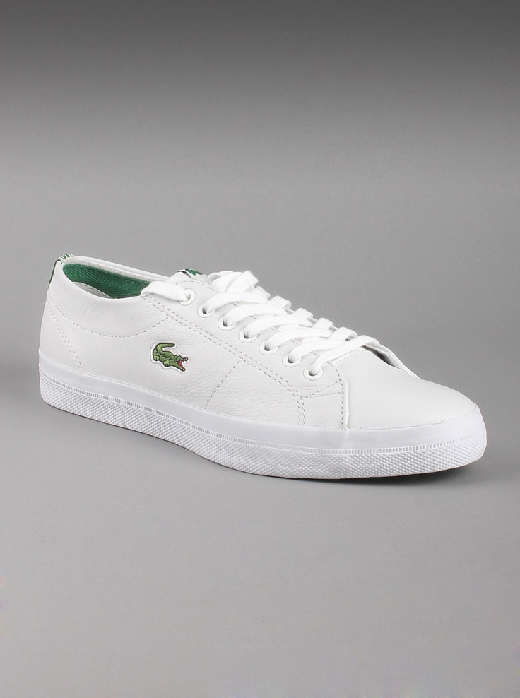 Lacoste Mens Marcel Chunky CRE Leather Shoes In White. Casual Style To Slip Into For Strolls ...