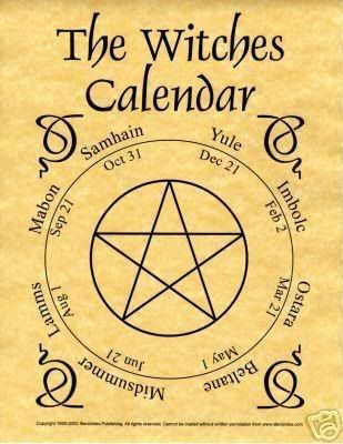 Sabbat calendar. ~ only modification, Samhain is considered by some as November…