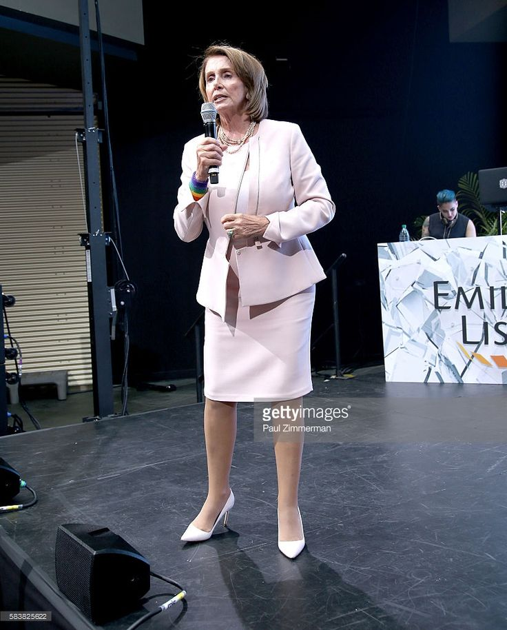 Minority Leader of the United States House of Representatives Nancy Pelosi speaks onstage at EMILY's List Breaking Through 2016 at the Democratic National Convention at Kimmel Center for the Performing Arts on July 27, 2016 in Philadelphia, Pennsylvania.