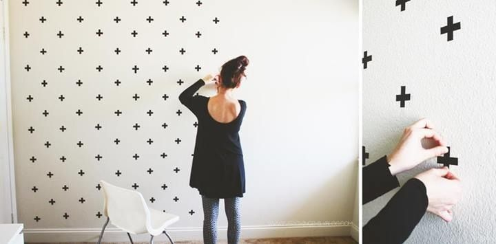 Maskingtape // Décorer un mur avec du masking tape