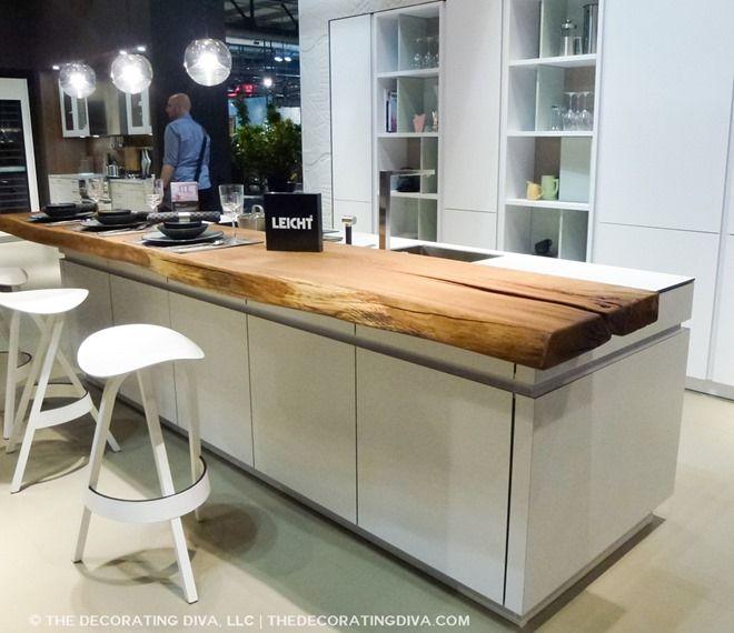 leicht white kitchen no hardware quilted wall eurocucina trend 2015- live edge woods
