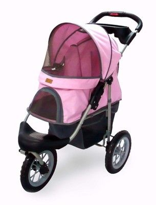 New BestPet Pink Pet Jogger Jogging Dog Cat Stroller Carrier--omg I need this hahaha
