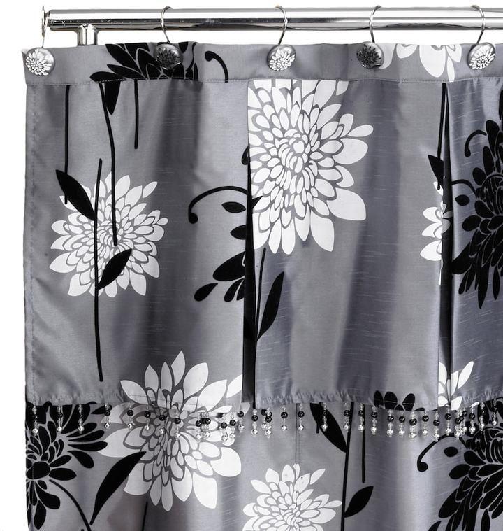 Popular Bath Erica Fabric Shower Curtain