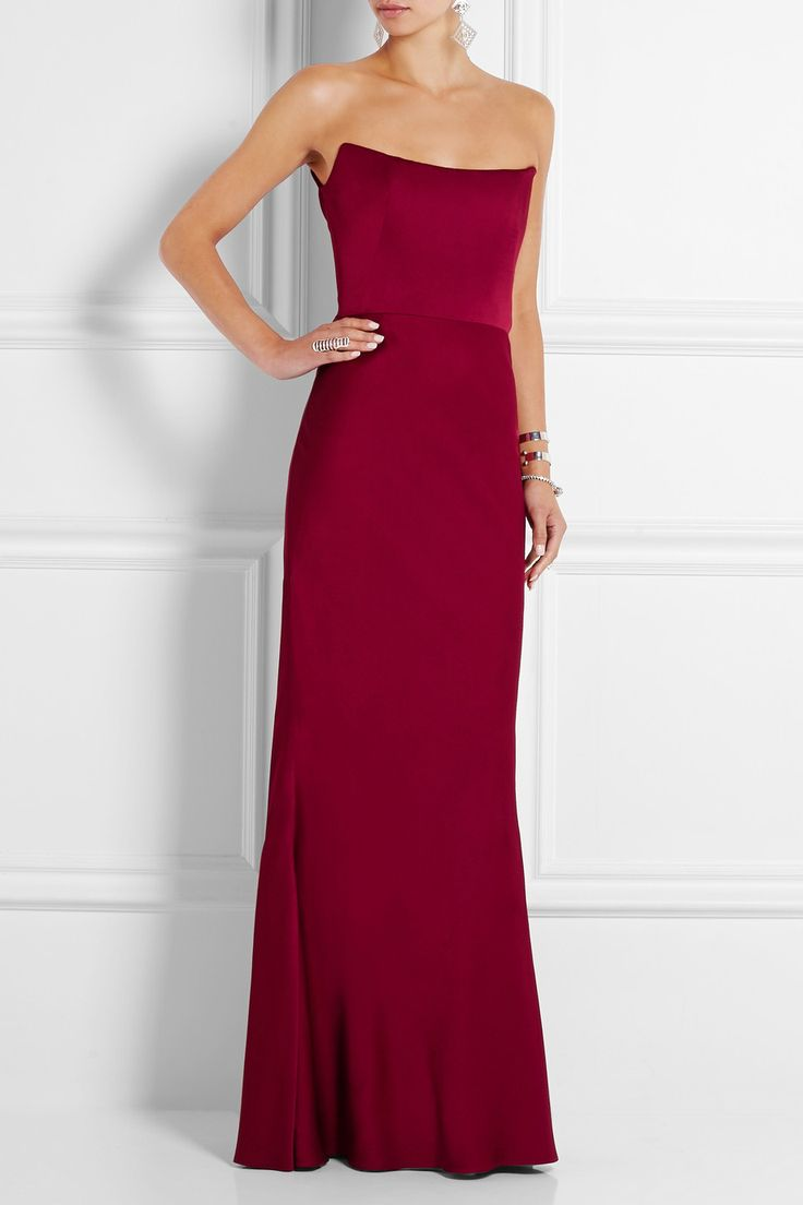 Alexander McQueen Strapless satin gown NET-A-PORTER.COM