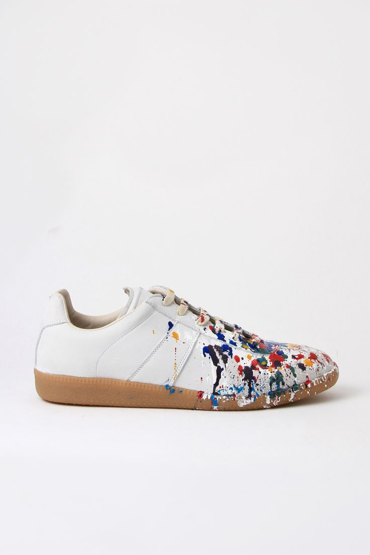 Maison Martin Margiela Paint Splatter Sneakers. 2nd time I've pinned. :D