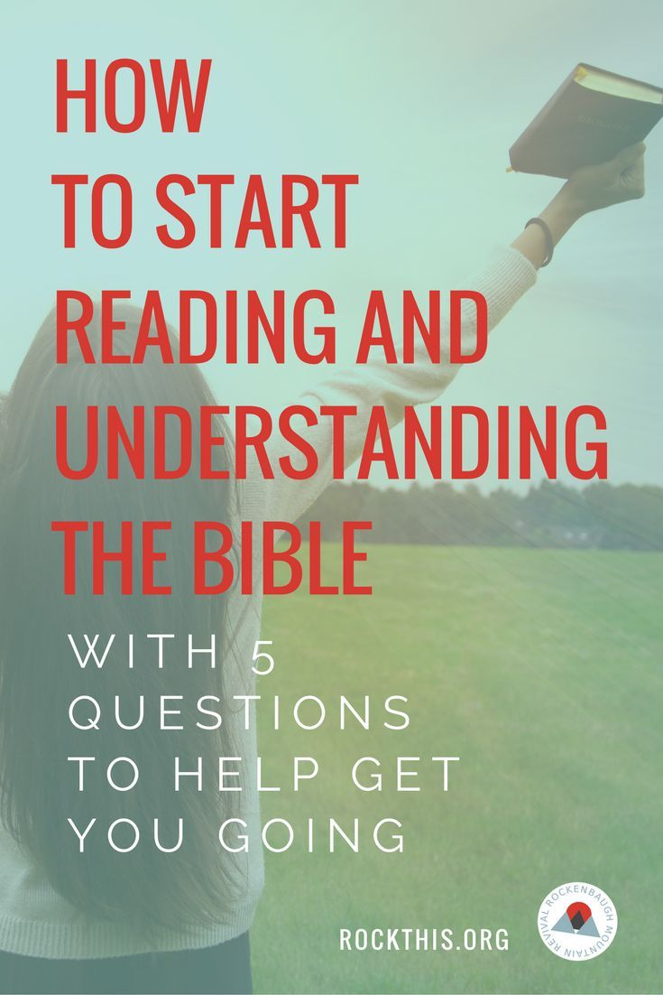 guide on reading the bible