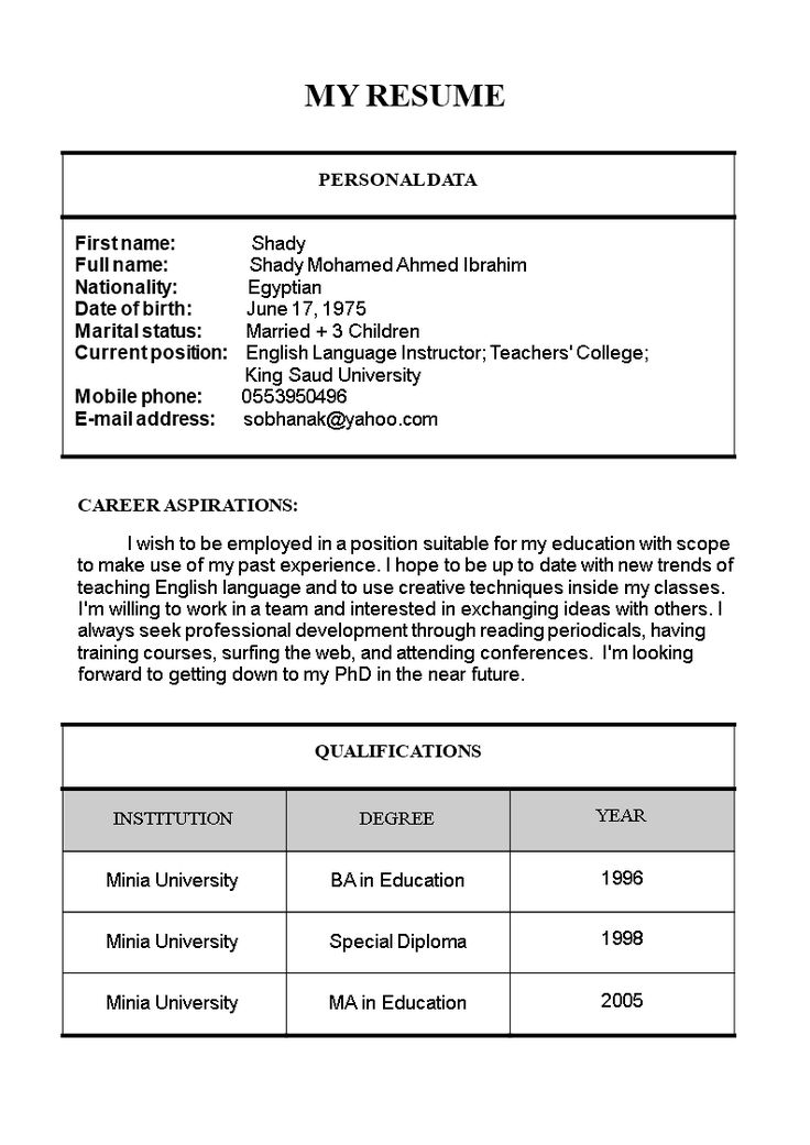 Primary Teacher Resume Format How to create a Primary