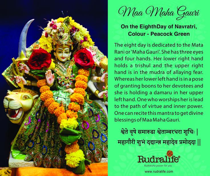 8th Day of Chaitra Navratri  #navratri #mata #hindu #india #festival #gudipadwa #navratra #navratre #rudralife #shiva #rudraksh #god #goddess #gauri #maagauri