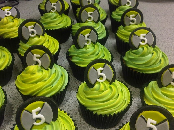 Cakes by Ash - Ben ten cupcakes - egg free,  for school children