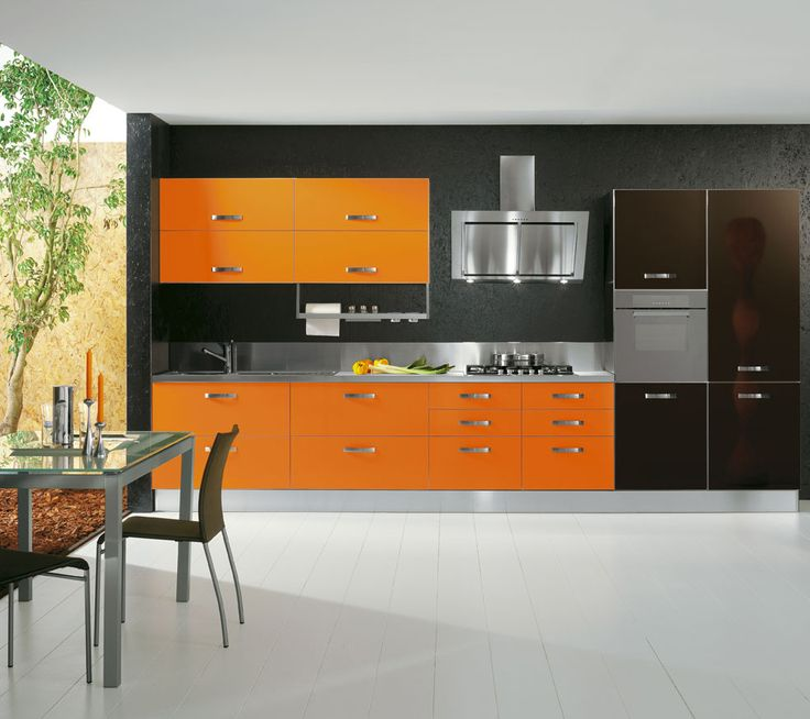Collezione #arredamento #cucina MIX #arancione #arancio #colore  www.cucinesse.it/cucine/mix/