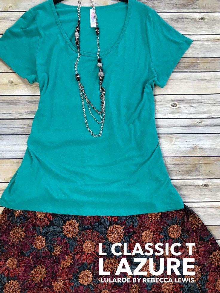 LuLaRoe Classic T and floral azure  #lularoe #lularoeoutfits #fashion #womensfashion #lularoeclassictee #lularoeazure