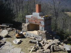 outdoor stone fireplaces - Google Search