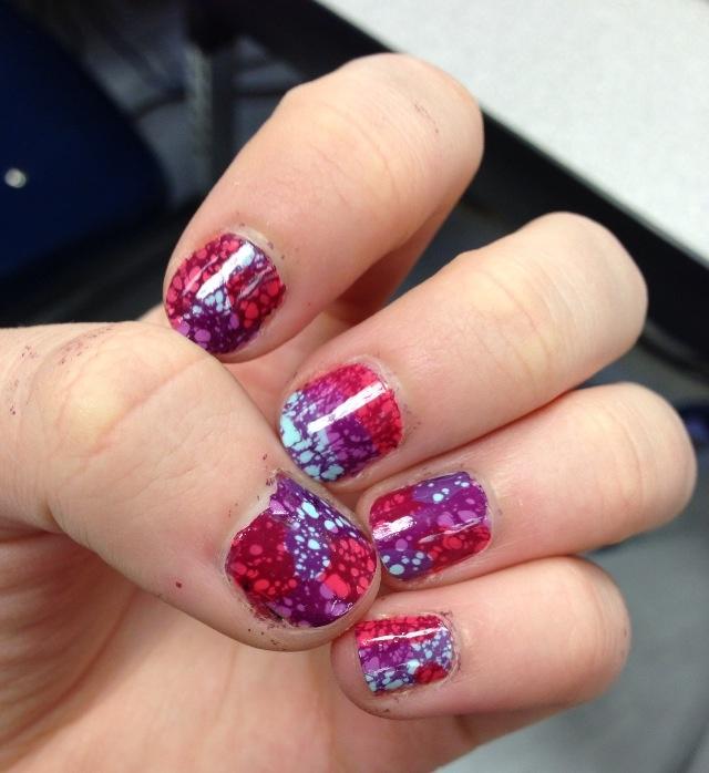 Water spot manicure   #waterspotmanicure  #nails  #manicuremonday #waternails #waterspotnails