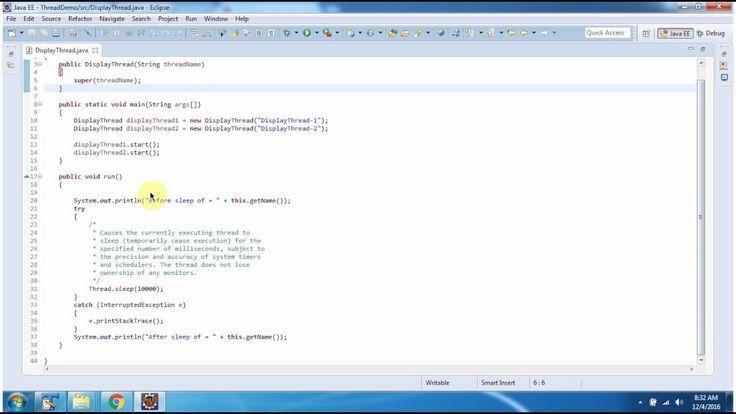 Java Tutorial : Java Threads (Thread Sleep | Thread sleep in java)