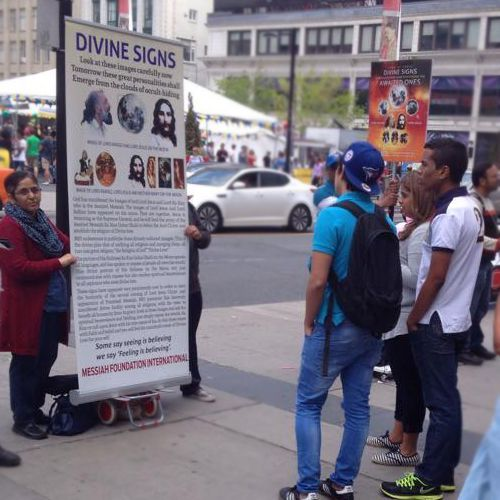 Messiah Foundation Canada's Activities in Dundas Square