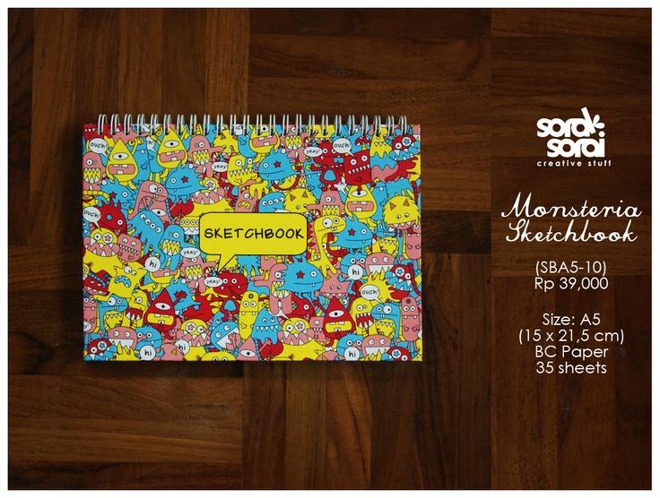 Monsteria Sketchbook by #soraksorai  designed by @Niken Handamari