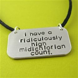 Star Wars Midichlorian Count Necklace - Spiffing Jewelry
