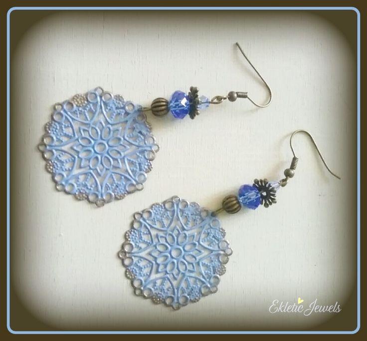 Boho filigree earrings