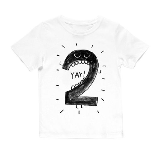 Birthday t-shirt | wit