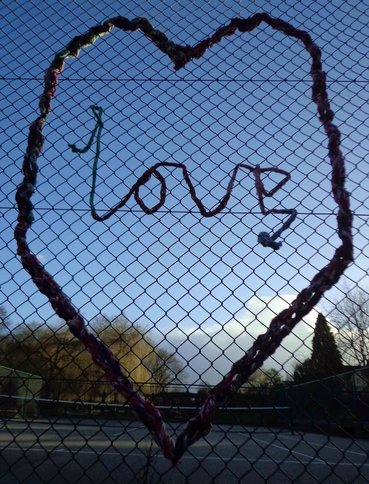 Valentine's Day Yarnbomb - Rowntree Park, York