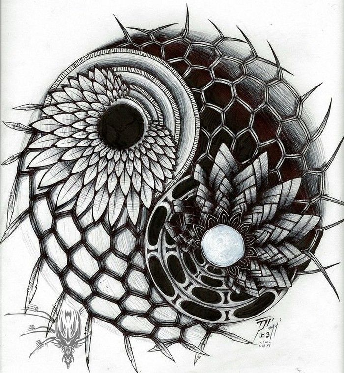 Abstract Lion With Yin Yang: 1000+ Ideas About Yin Yang Art On Pinterest