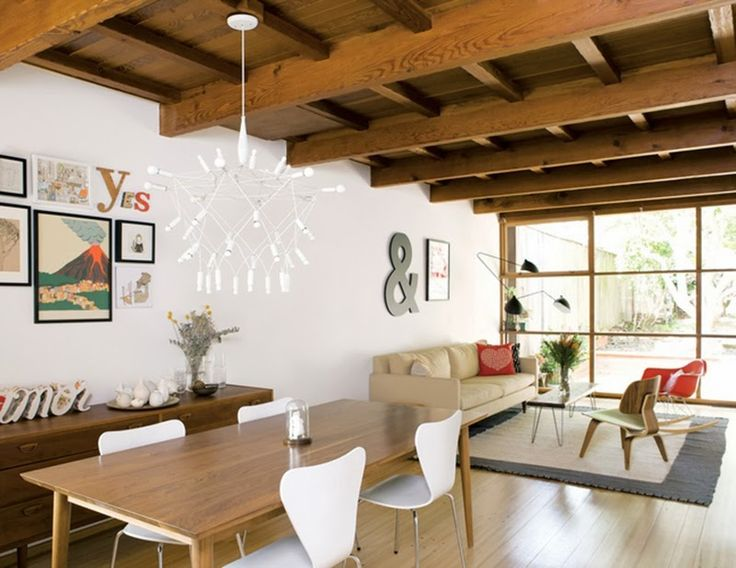 Pe Collage Founder S House In Dwell Magazine The Couch And Dining Room Table Are From Board Patrick Townsend Orbit Chandelier Is